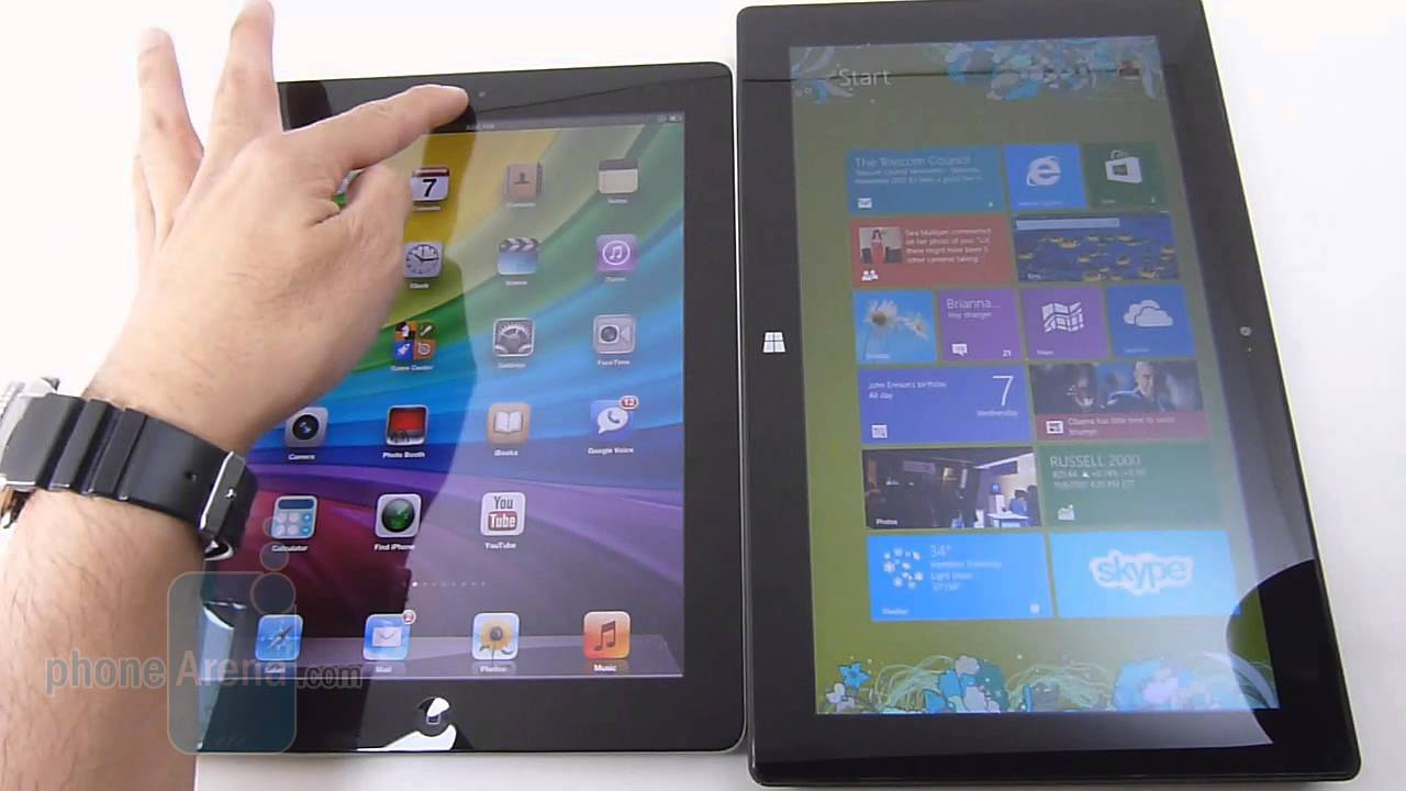 Microsoft Surface RT vs iPad 4